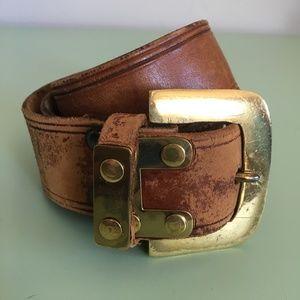Vintage Western Kimberly Leather Belt